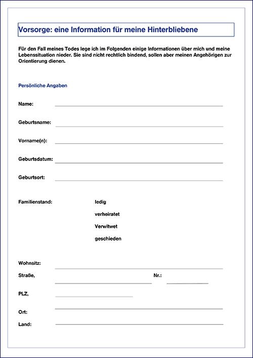 Erfreut Notfall Kontaktformular Vorlage Ideen ...